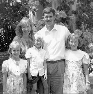 Andrew & Grace Rees (and their children - from left: Jessica, Jonathan, and Esther) serve as FEBCanada missionaries in Saipan in the 1990's.