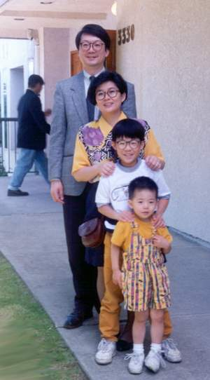 Robert & Peggy Choy (with sons Jeremy and Bernie, c.1991) - FEBCanada's longest-serving missionaries, in Hong Kong since 1986.
