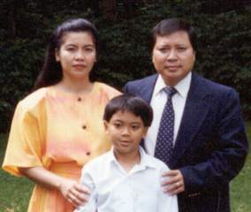 Sionh & Khamyeng Chan (with son Joshua, 1993) - Khmu-language program producer, and FEBCanada missionaries in Thailand since 1993.